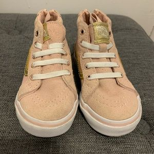 Pink and Gold Toddler Vans!!!